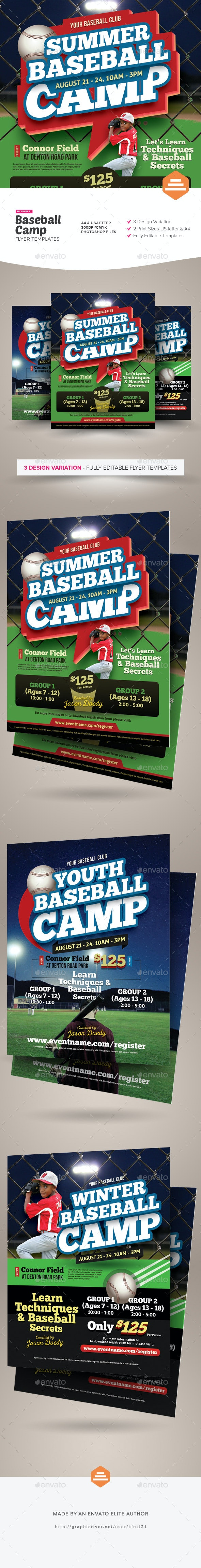 Baseball Camp Flyer Templates - Sports Events