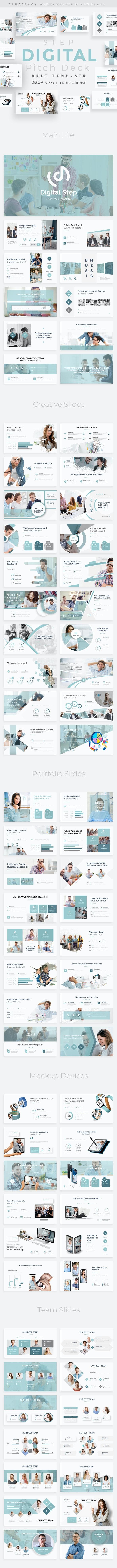 Digital Step Pitch Deck Google Slide Template - Google Slides Presentation Templates