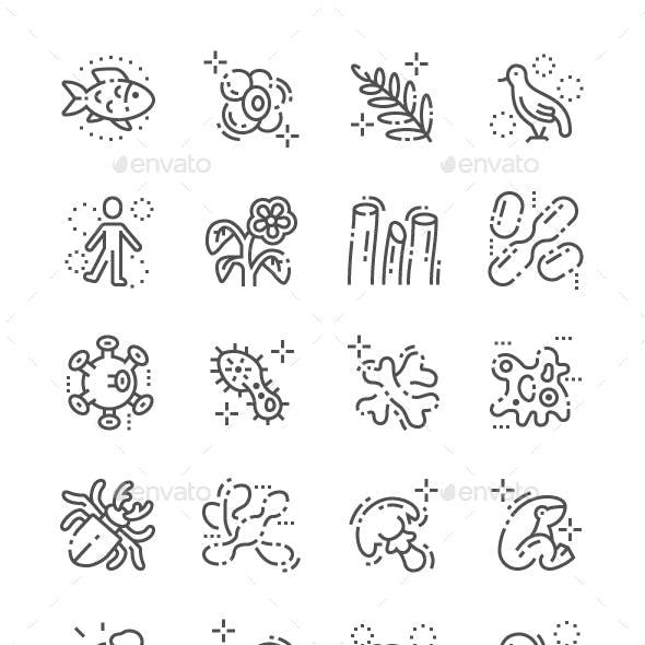 Organisms Line Icons