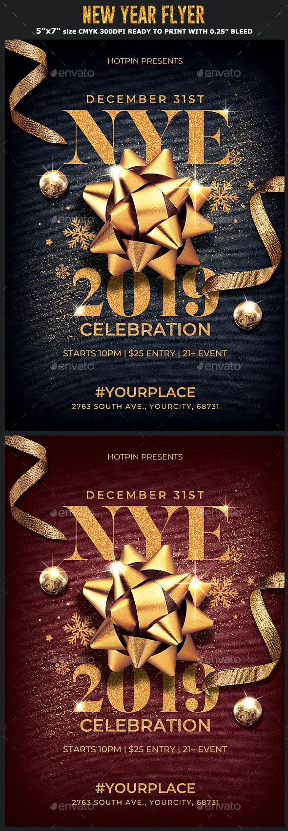Classy New Year Eve Flyer - Events Flyers