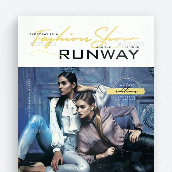 Runway Flyer Template