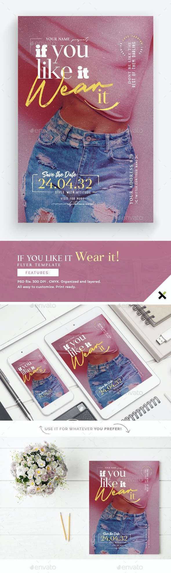 If You Like It Wear It Flyer Template - Commerce Flyers