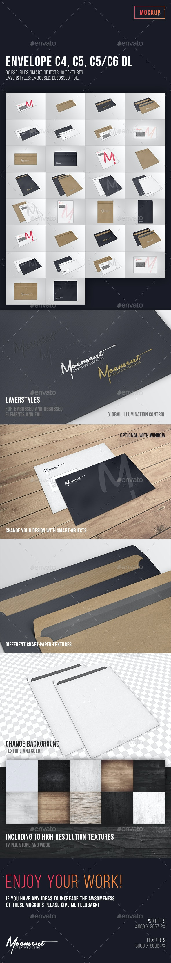 Envelope Mockup Bundle - Stationery Print