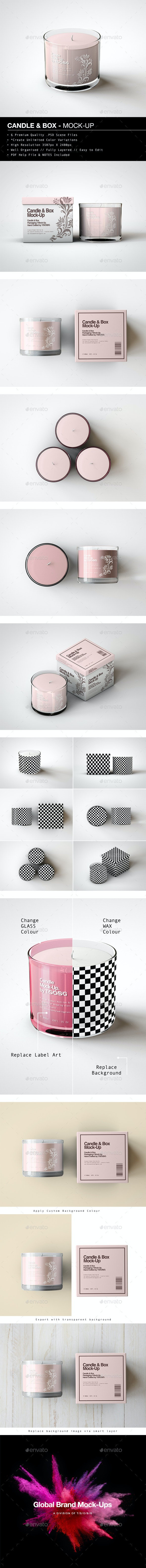 Candle & Box Mock-Up - Miscellaneous Packaging
