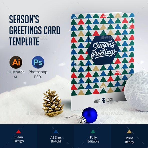Season's Greetings Card Template