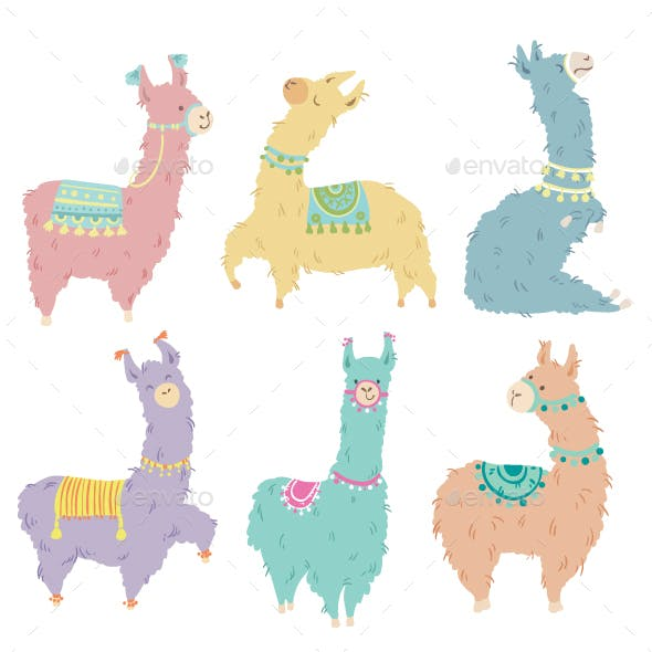 Set of Llamas