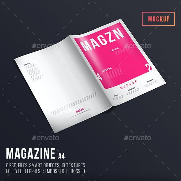 Magazine Mockup A4