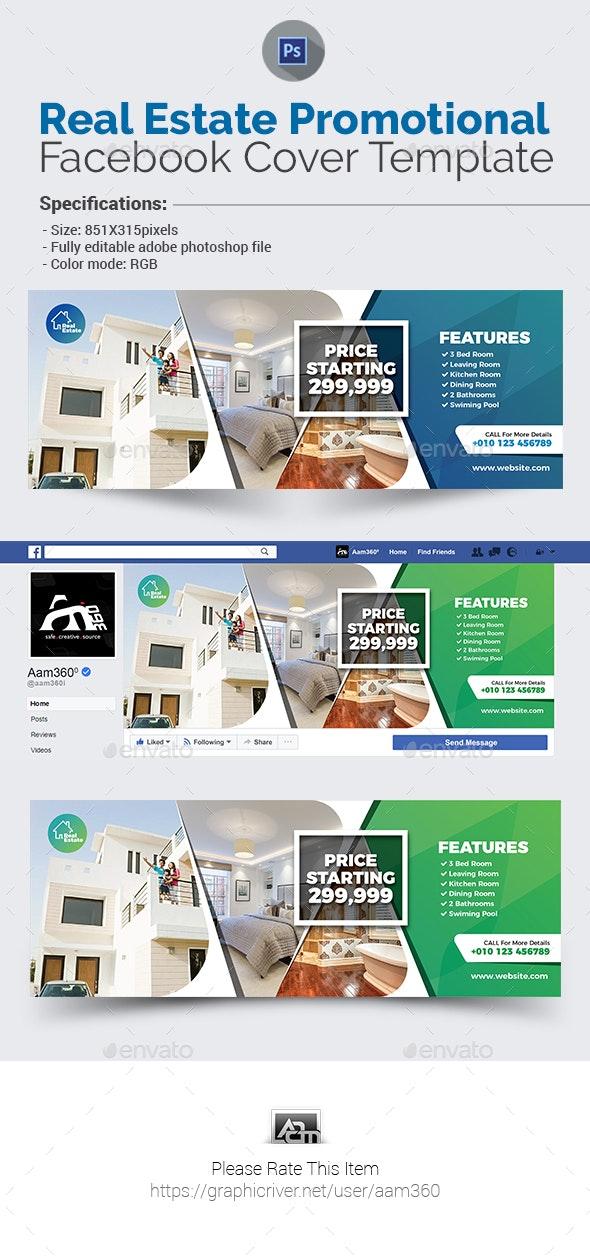 Real Estate Facebook Cover Template - Facebook Timeline Covers Social Media