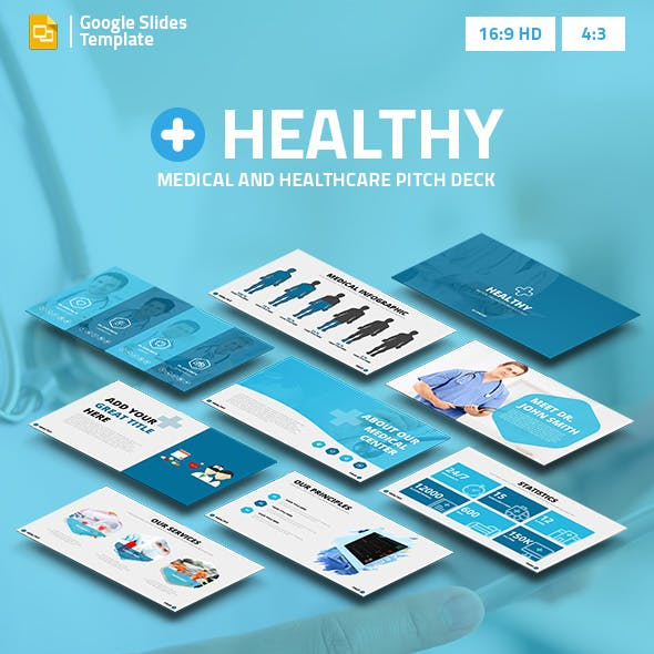 Healthy - Medical and Healthcare Google Slides Pitch Deck