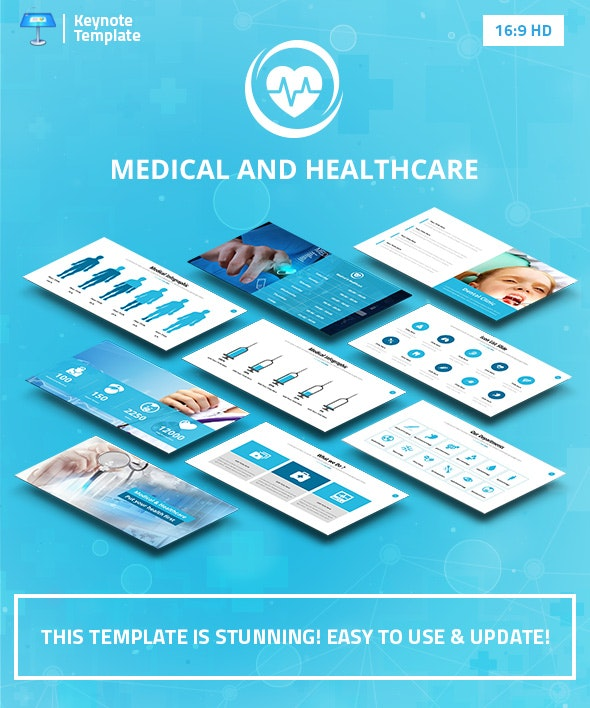 Medical and Healthcare Keynote Pitch Deck - Business Keynote Templates