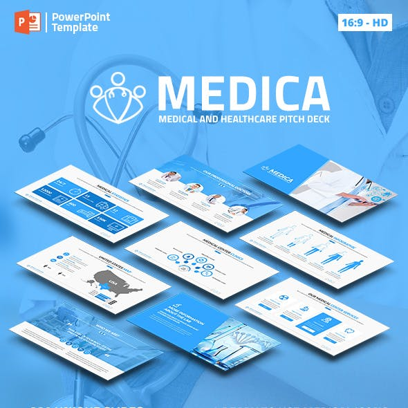 Medica - Medical and Healthcare PPT Pitch Deck