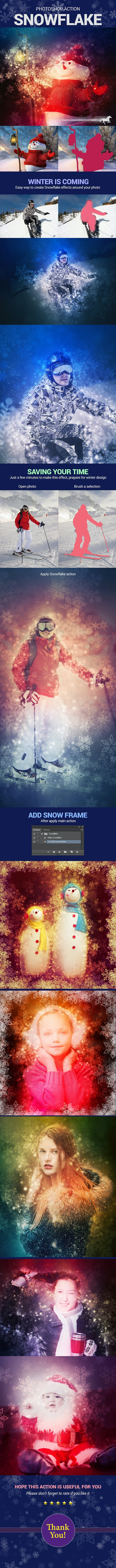 Snowflake Effects - Photo Effects Actions