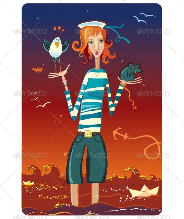 Sailor Girl - Characters Vectors