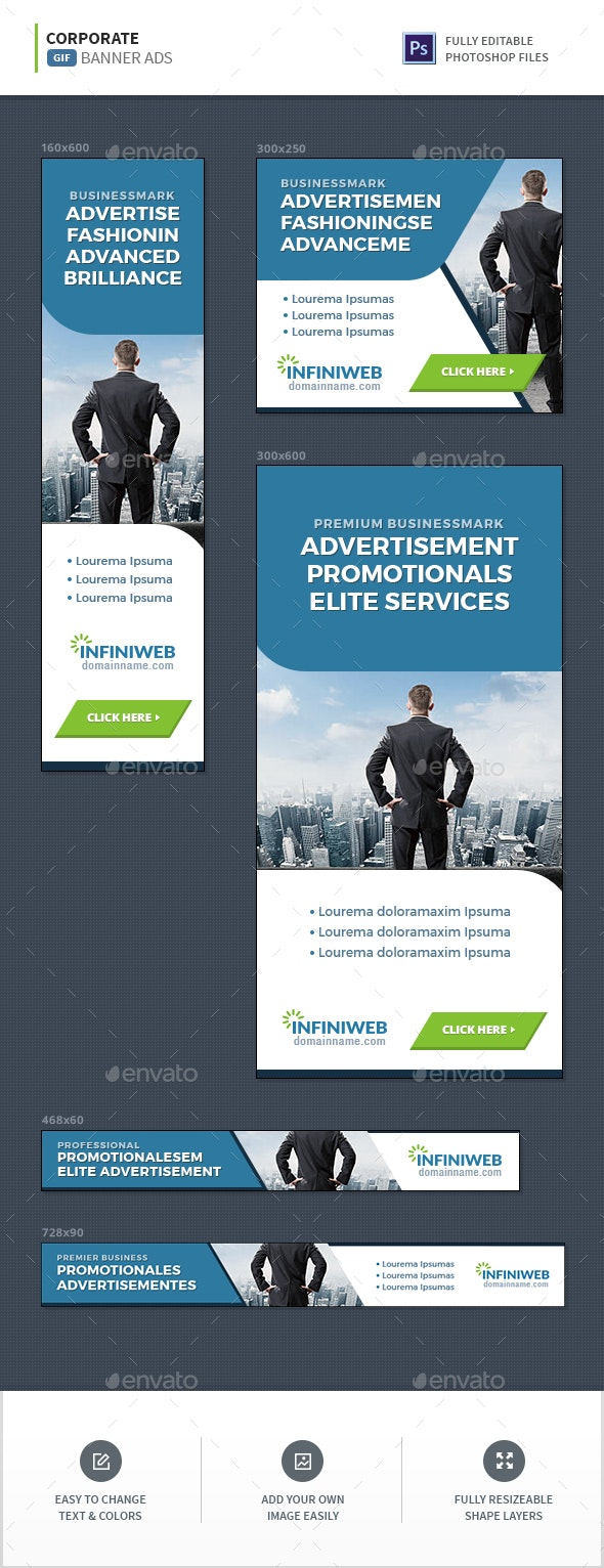 Corporate GIF Banners - Banners & Ads Web Elements