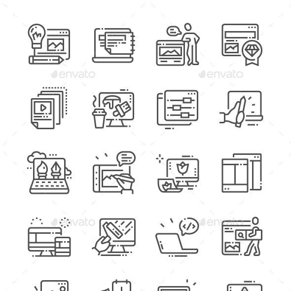 Web Design Line Icons