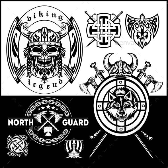 Set of Viking Emblems - Miscellaneous Vectors