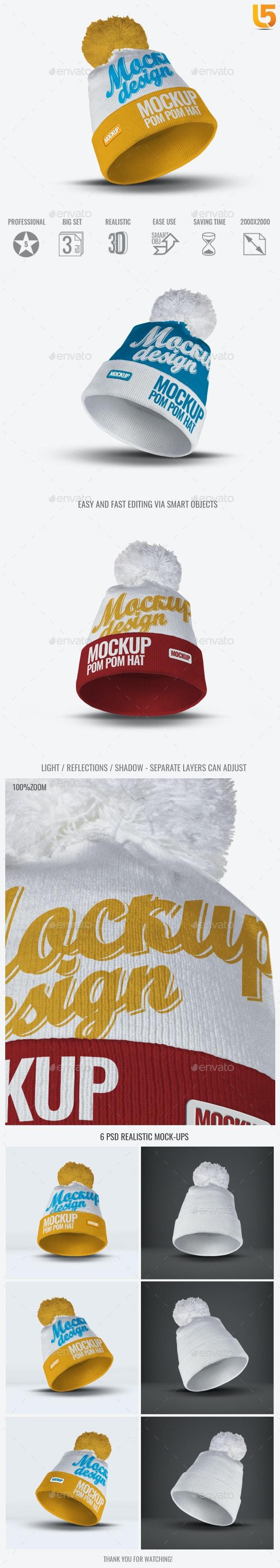 Pom Pom Hat Mock-Up - Miscellaneous Apparel