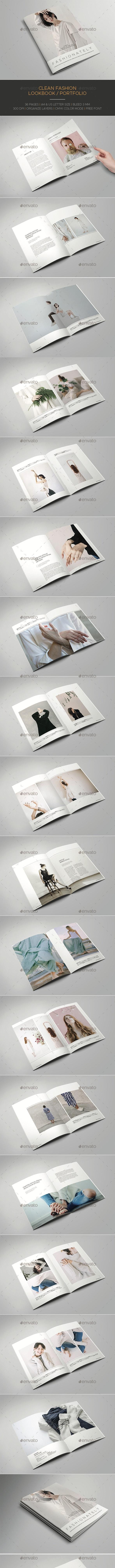 Clean Fashion Lookbook/Portfolio - Catalogs Brochures
