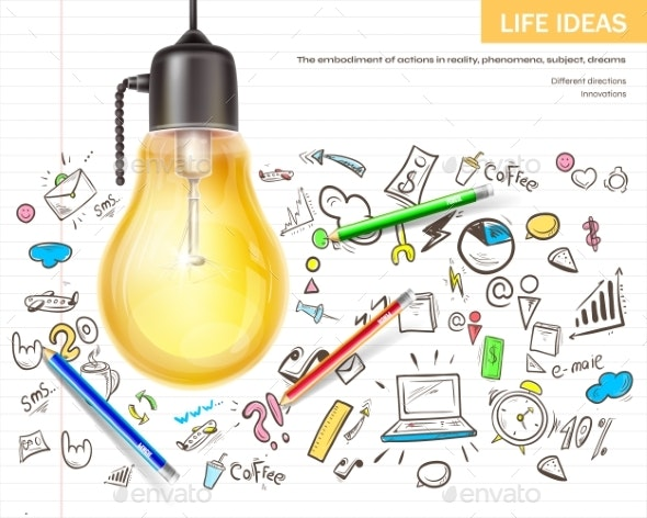 Visualizing Ideas Brainstorming Realistic Vector - Concepts Business