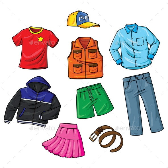 Clothes Cartoon - Miscellaneous Characters