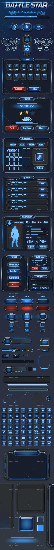 Sci-Fi Battlestar Mobile UI - User Interfaces Game Assets