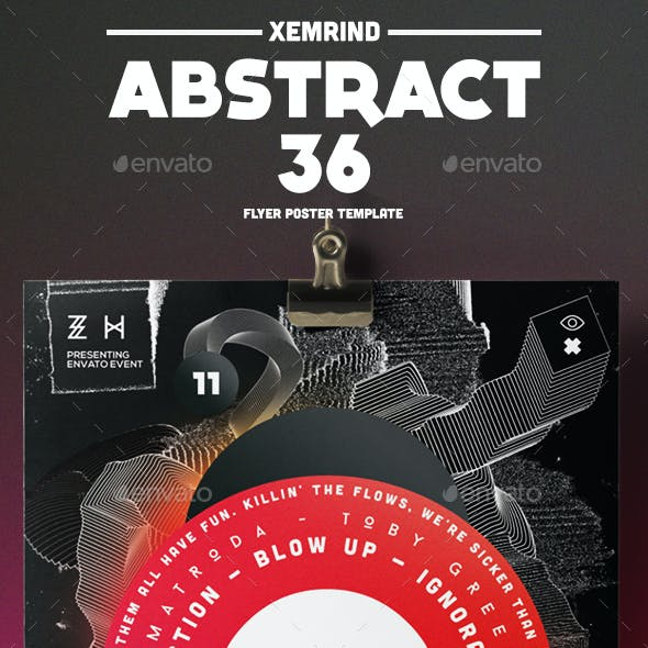 Abstract 36 Flyer/Poster Template