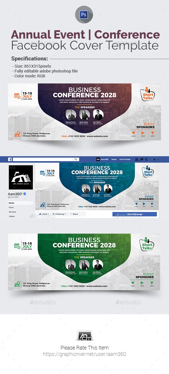 Event | Conference Facebook Cover - Facebook Timeline Covers Social Media