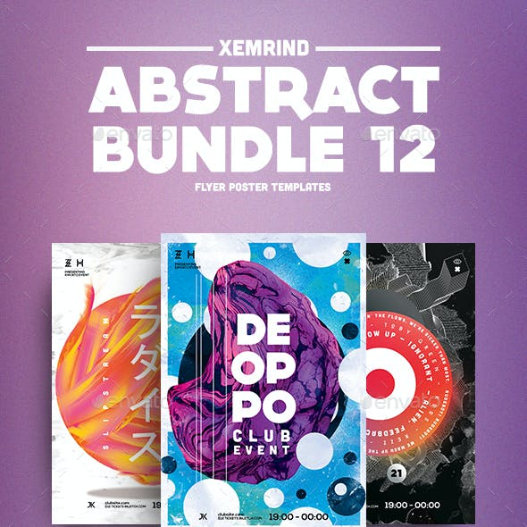 Abstract Flyer/Poster Template Bundle 12