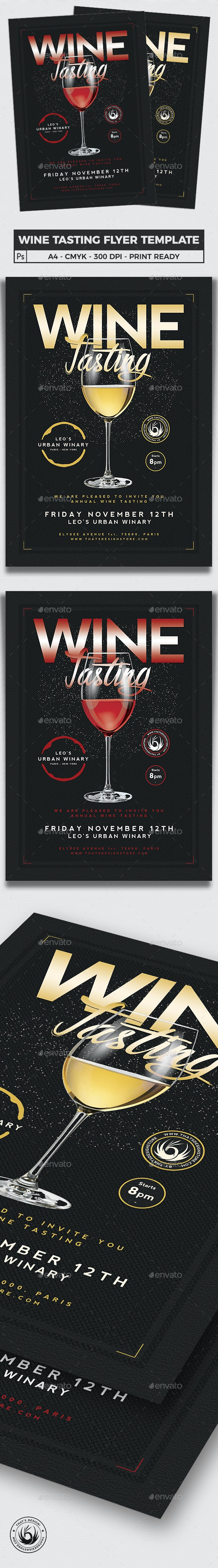 Wine Tasting Flyer Template V2 - Clubs & Parties Events