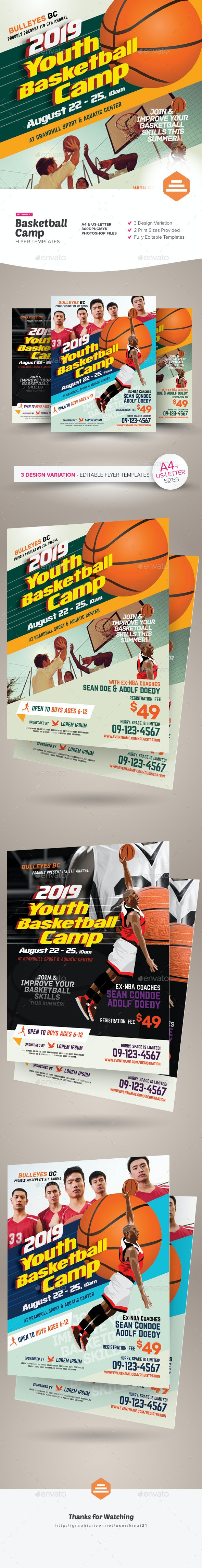 Basketball Camp Flyers - Sports Events