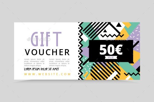 Memphis Geometric Gift Voucher - Corporate Flyers