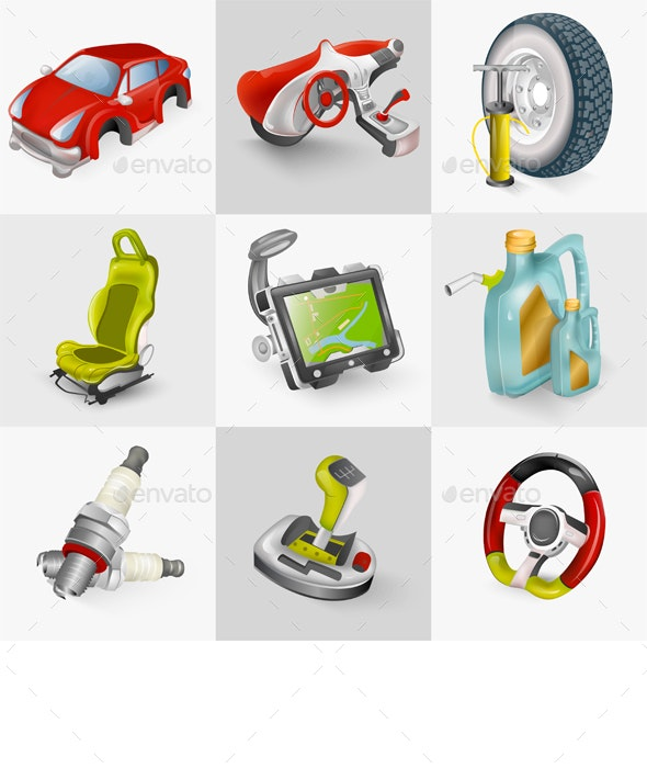Car Accessories - Man-made Objects Objects