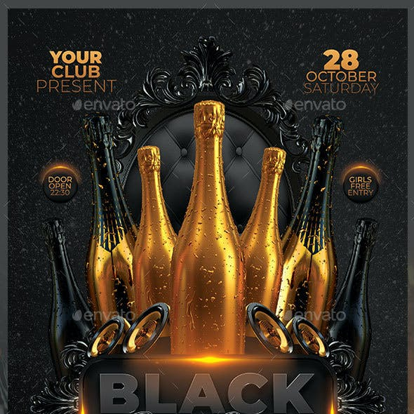 Black Gold Bottle Party