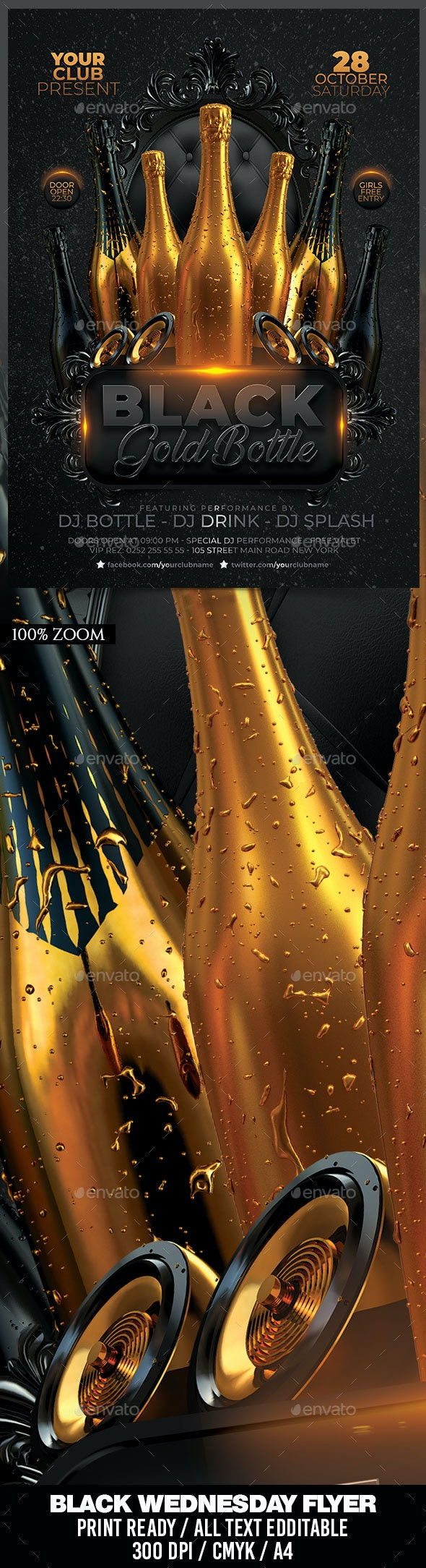Black Gold Bottle Party - Clubs & Parties Events