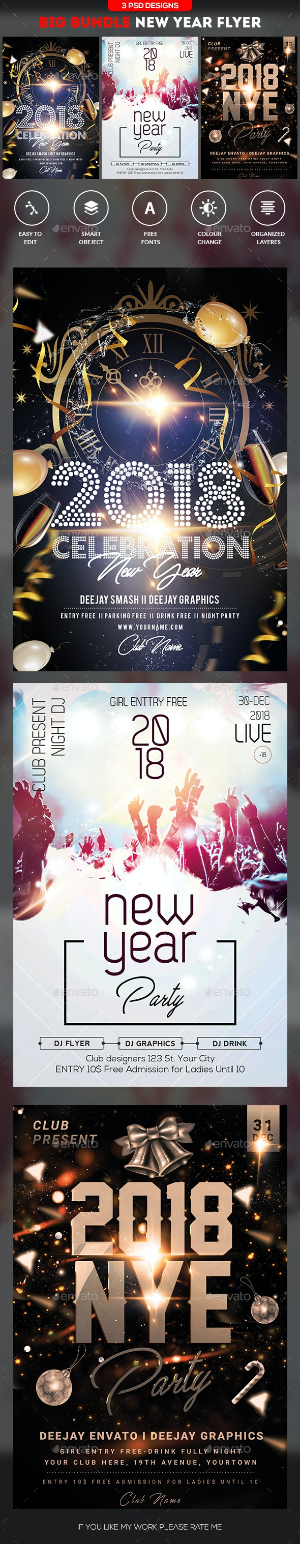 New Year Flyer Bundle - Clubs & Parties Events