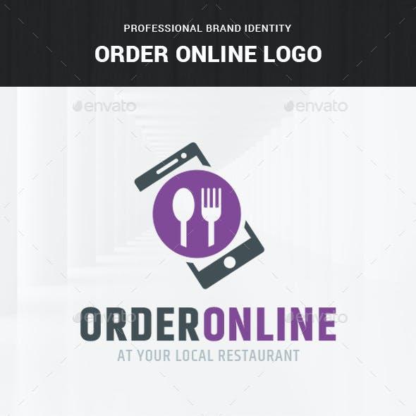 Order Online Food Logo