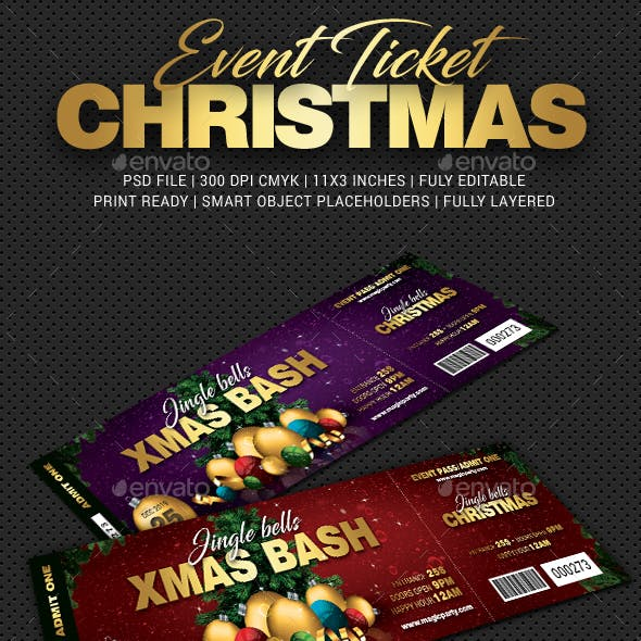Xmas Bash Party Event Ticket