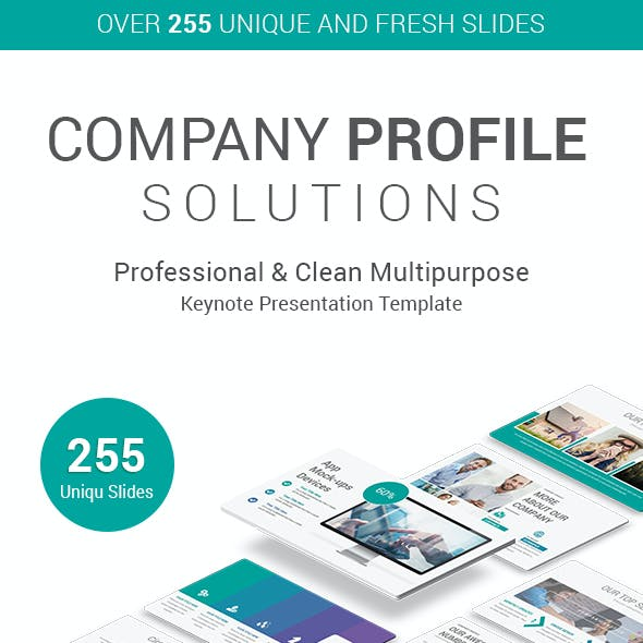 Stunning Company Profile Keynote Presentation Template