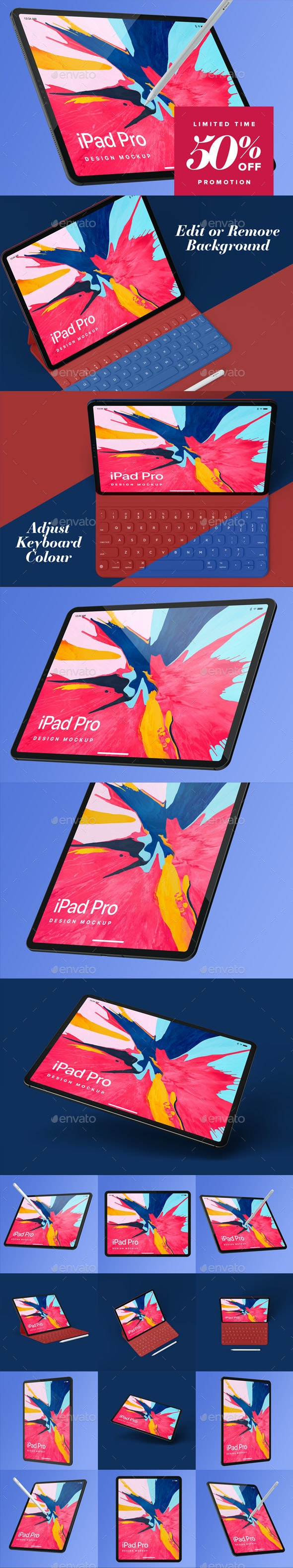 Pad Pro Design Mockup - Mobile Displays