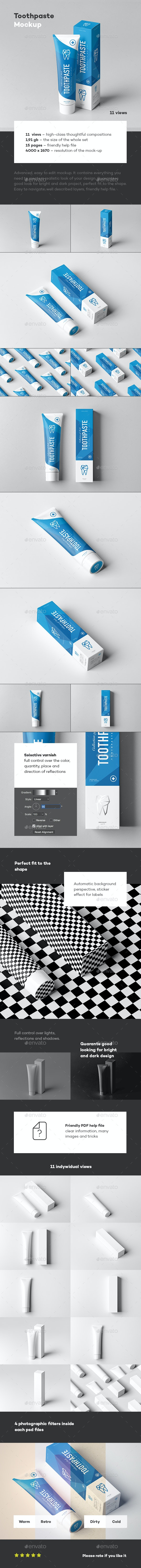 Toothpaste Mock-up - Miscellaneous Packaging