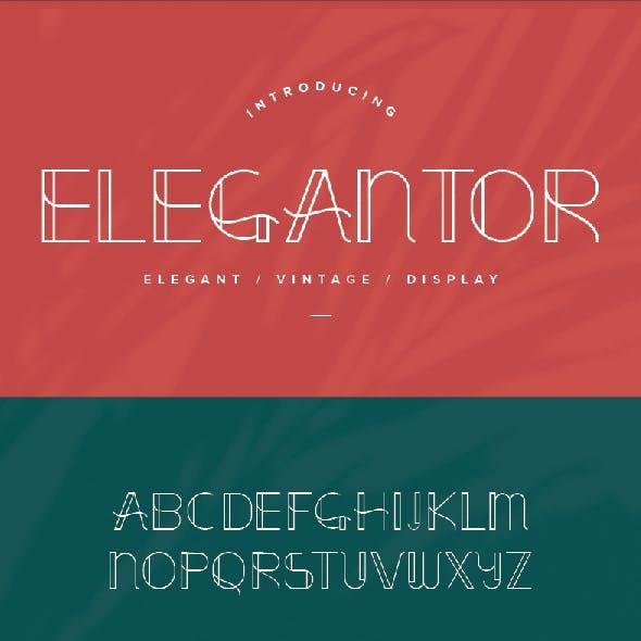 Elegantor | Elegant Vintage Display Font