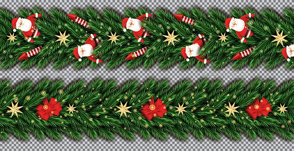 Border Set with Santa Claus - Christmas Seasons/Holidays