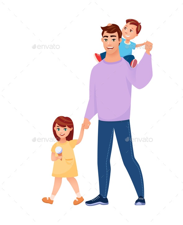Walking Family - People Characters