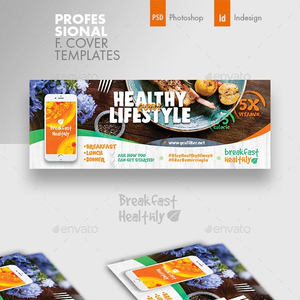 Healthy Food Cover Templates