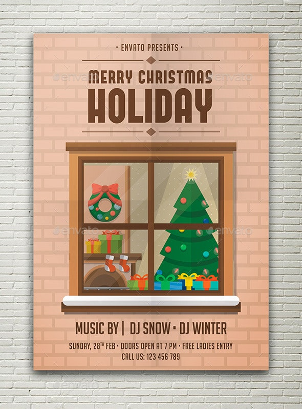 Christmas Holiday Flyer - Flyers Print Templates