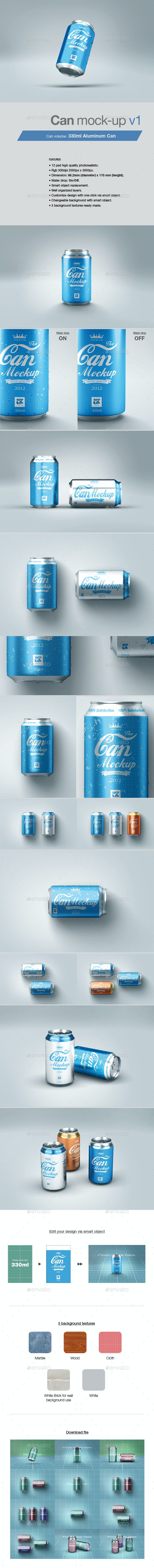 Can Mock-up v1 - Food and Drink Packaging