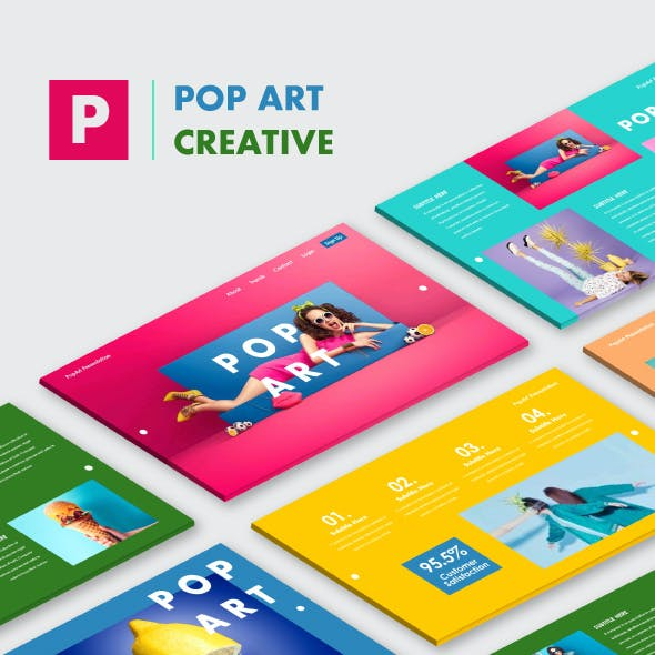 Pop Art Creative Keynote Templates