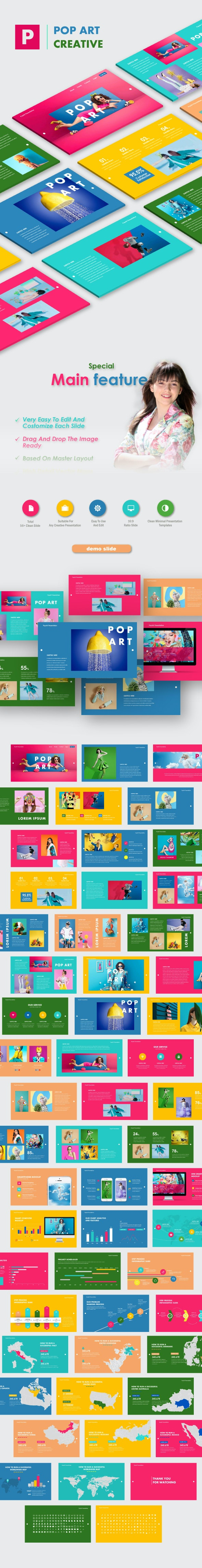 Pop Art Creative Google Slide Templates - Google Slides Presentation Templates