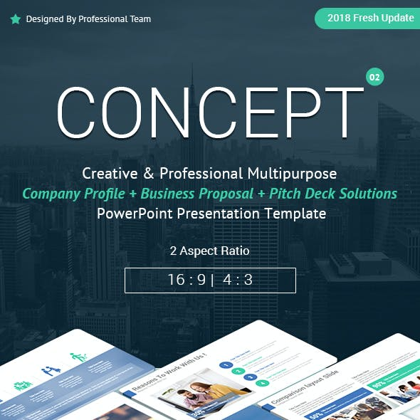 Concept Company Profile and Business Proposal PowerPoint Templates