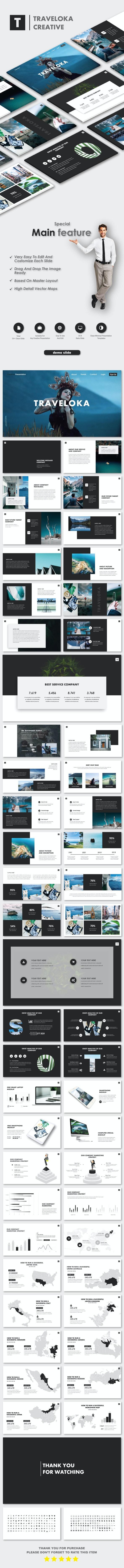 Traveloka PowerPoint Templates - Nature PowerPoint Templates